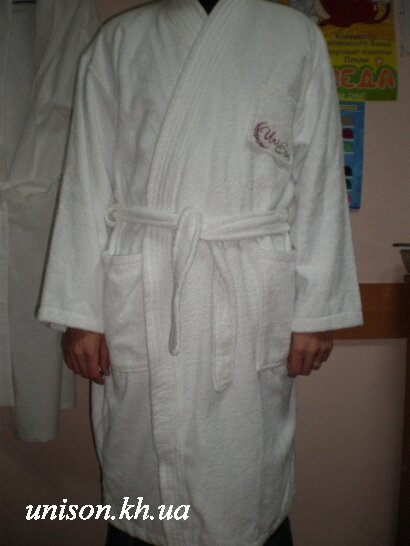Халат махровый отельный белый