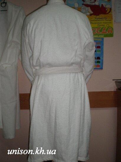 Халат махровый отельный белый плотность 400