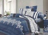 Комплект постельного белья Ранфорс ТМ Viluta - 8630 синий