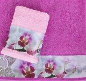Полотенце махровое ТМ Романтика - Орхидея