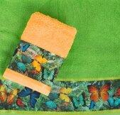 Полотенце махровое ТМ Романтика - Тропические бабочки