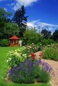Обогреватель-картина настенный карбоновый Лаванда-цветы-сад